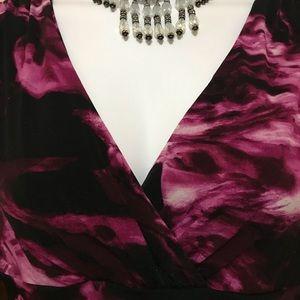 Premise Dresses - 📌Lg print violet Floral Dress